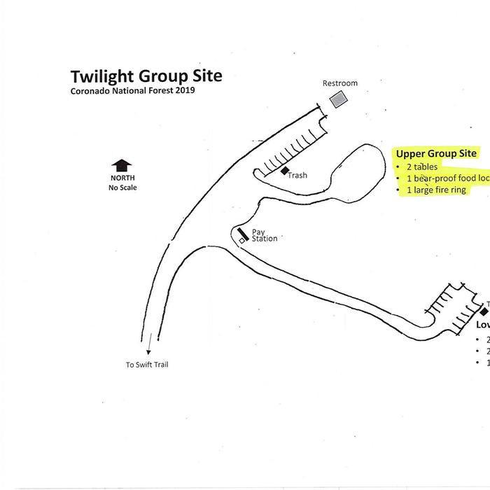 Upper Twilight Group Site MapUpper Twilight Group Site map