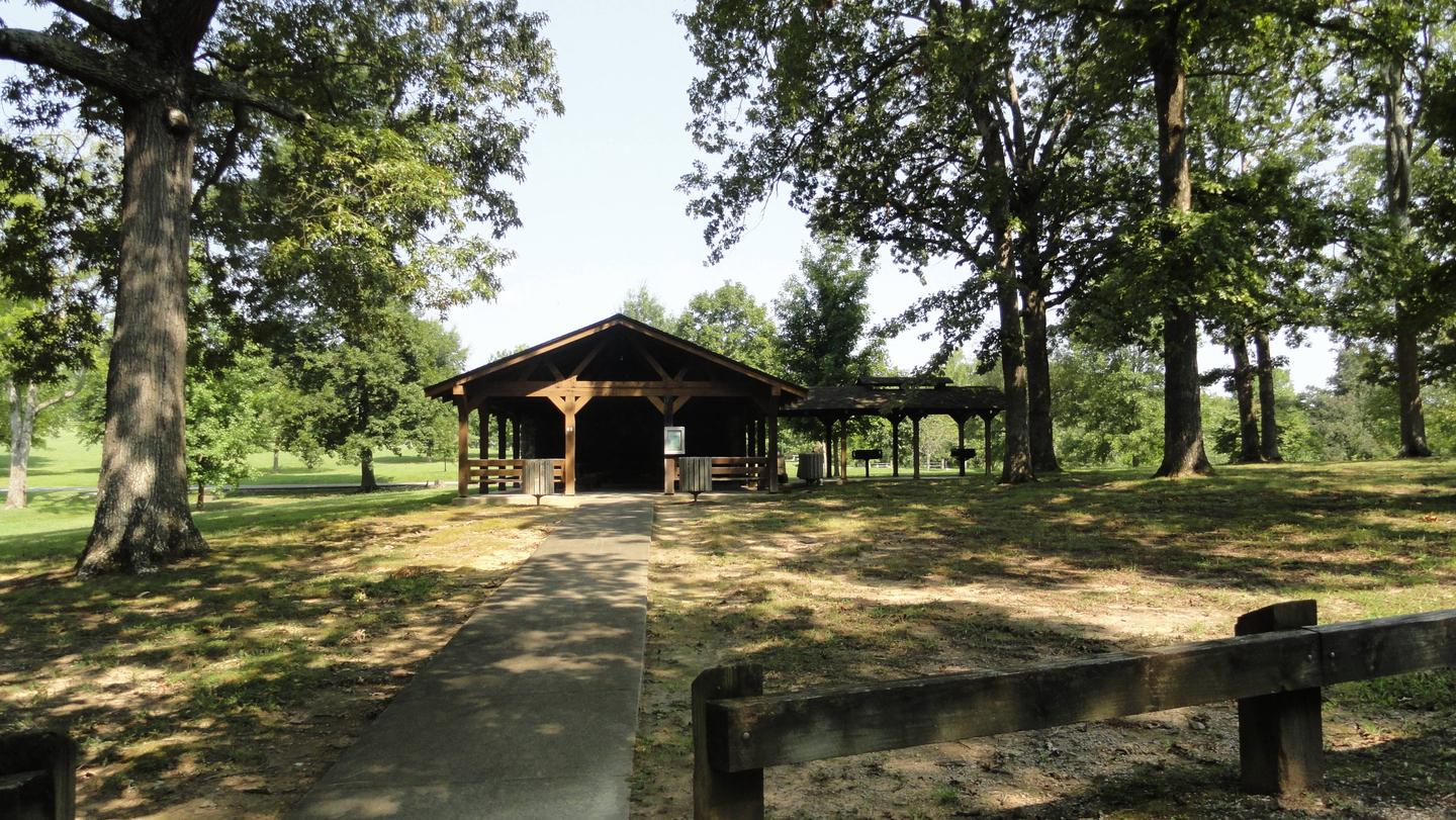 WILLOW GROVE PICNIC SHELTER VIEW FROM PARKING WILLOW GROVE PICNIC SHELTER VIEW FROM PARKING