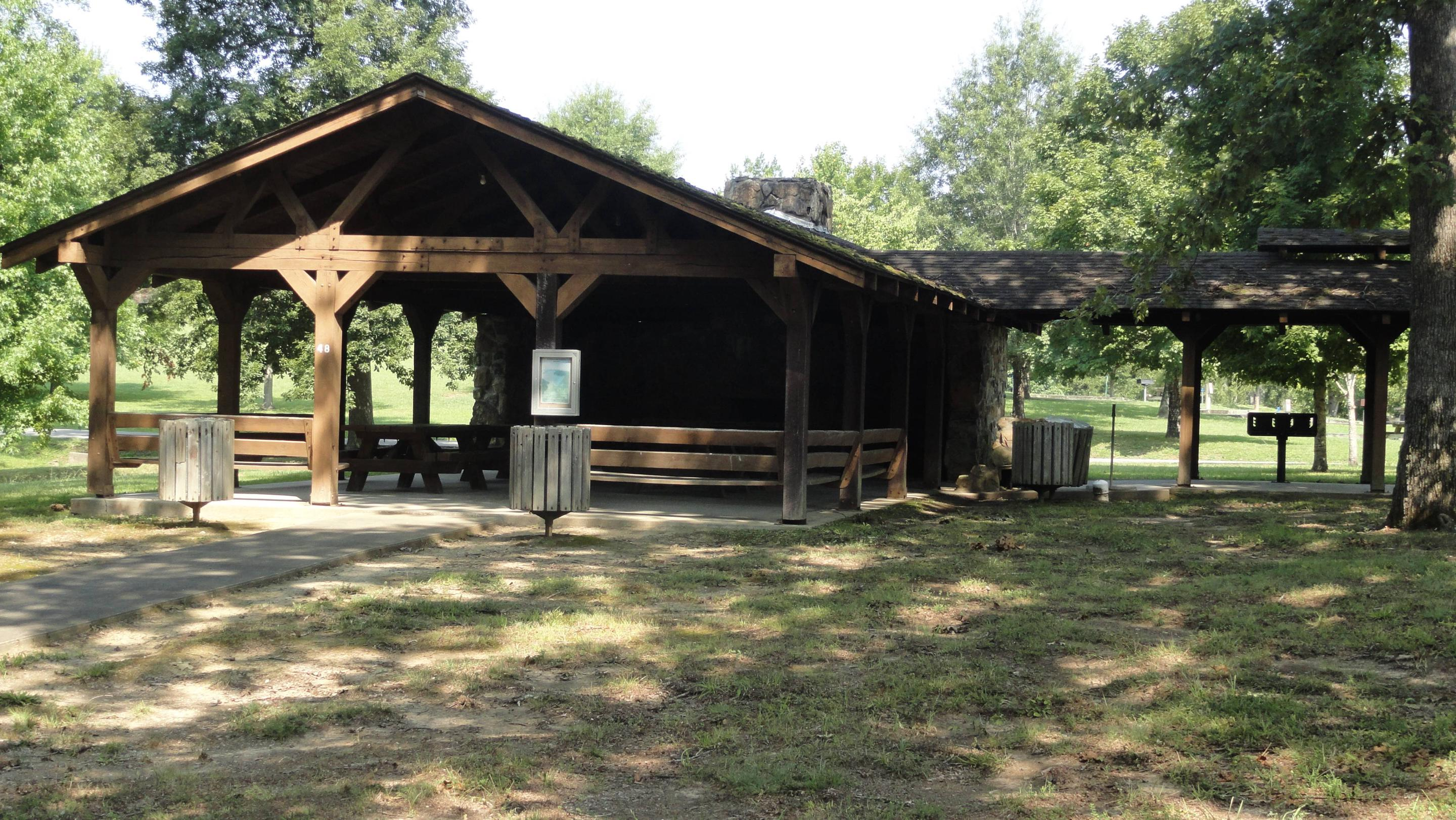 WILLOW GROVE PICNIC SHELTER VIEW OF GRILL TO RIGHTWILLOW GROVE PICNIC SHELTER