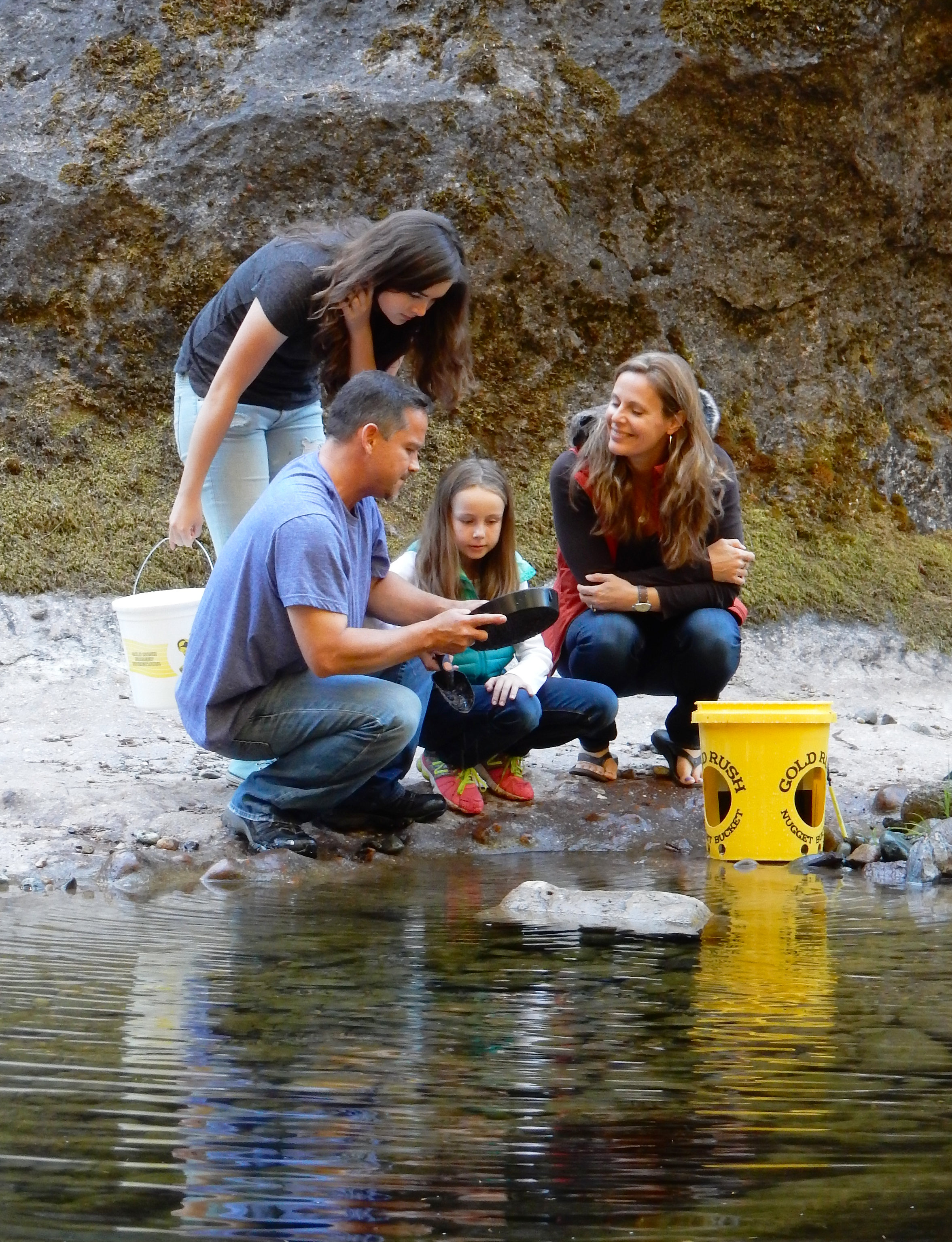 Gold Panning at Sharps Creek Recreation Site