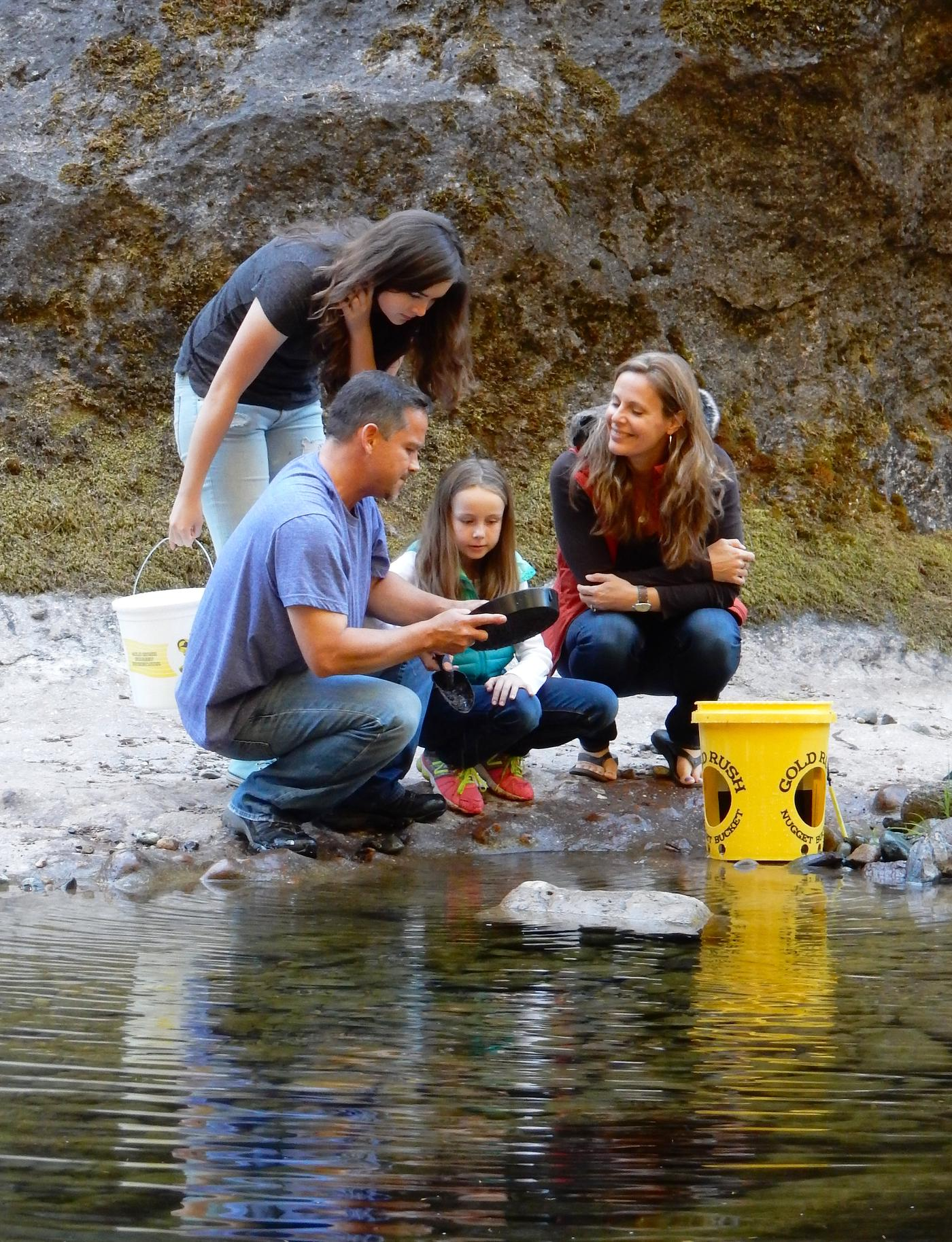 Gold Panning at Sharps Creek Recreation Site