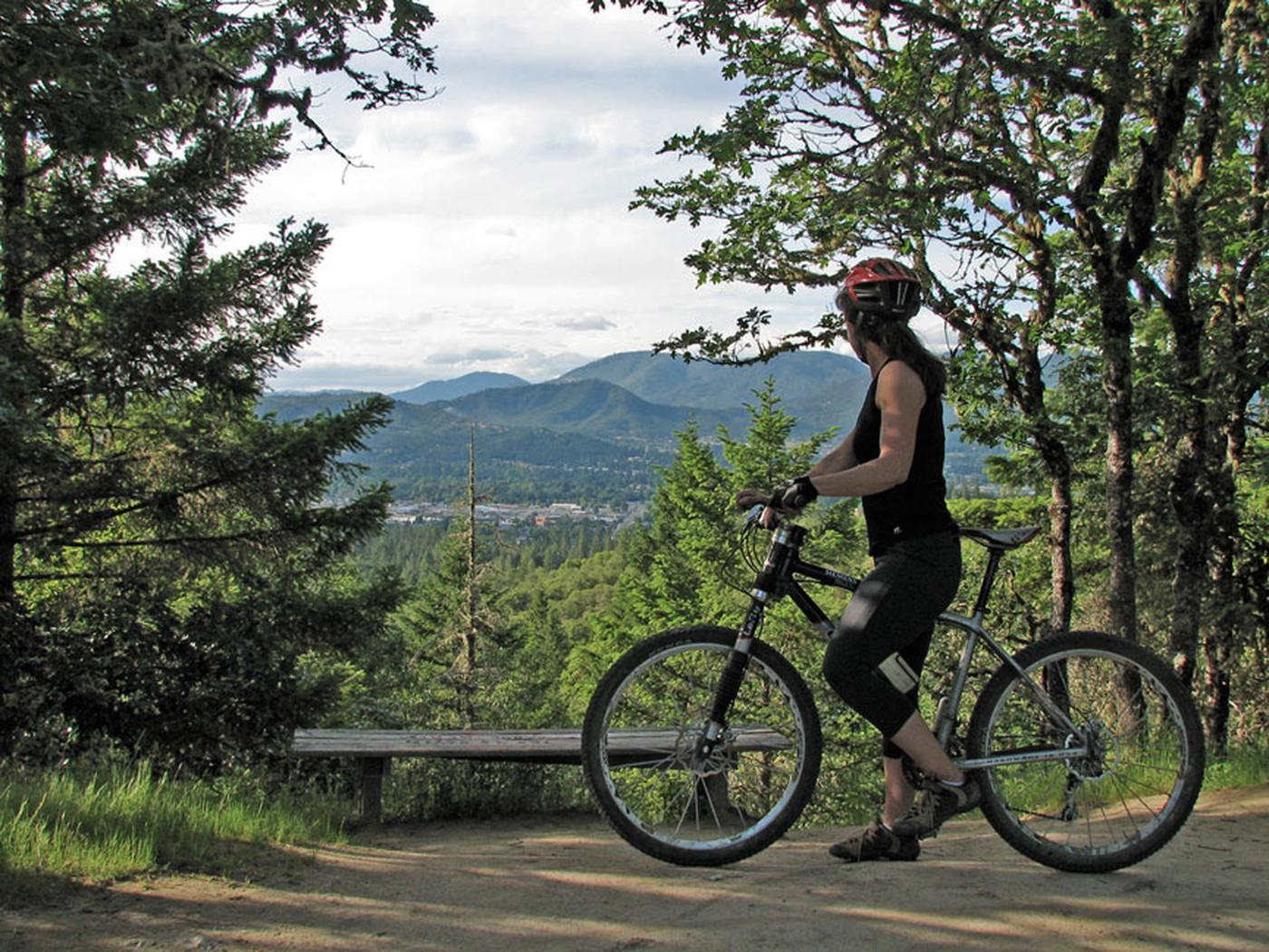 Mountain bike rider on the Cathedral Hills Trail System.