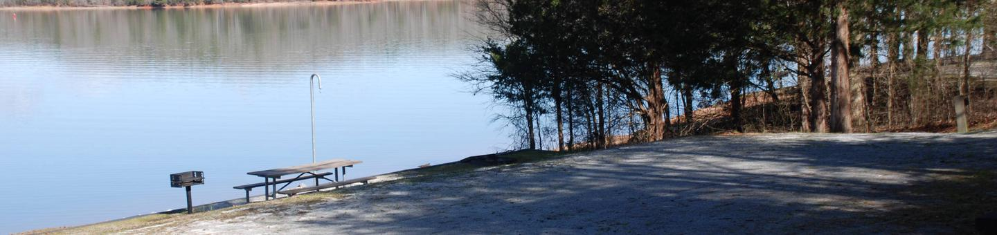 Lakefront Campsite at Paynes Creek on Hartwell Lake