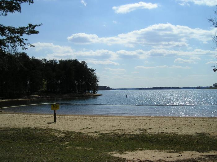 Swim beach located between sites 26 and 27
