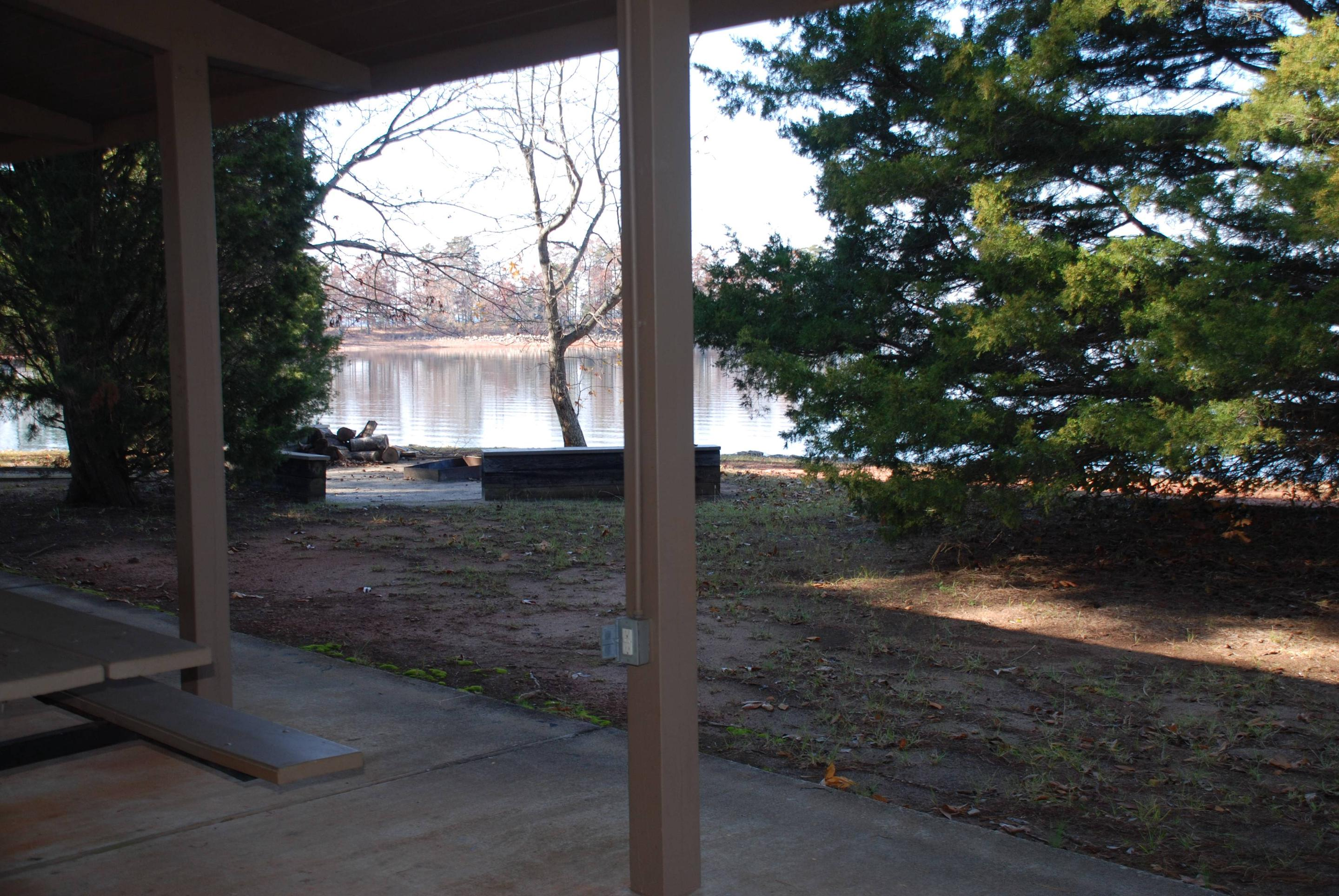 VIEW FROM A PICNIC SHELTER