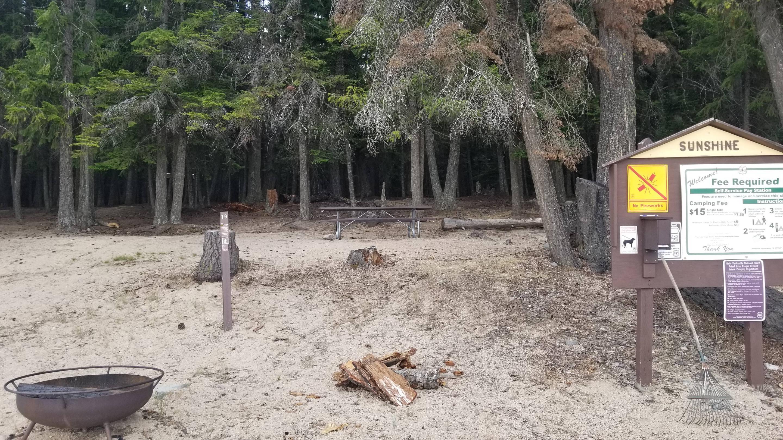 Sunshine Site #19Sunshine Boat-in Campsite #19 (Forest View)