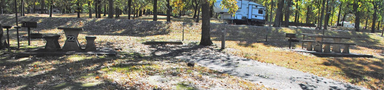 Applegate Cove Site 22Campsite 22