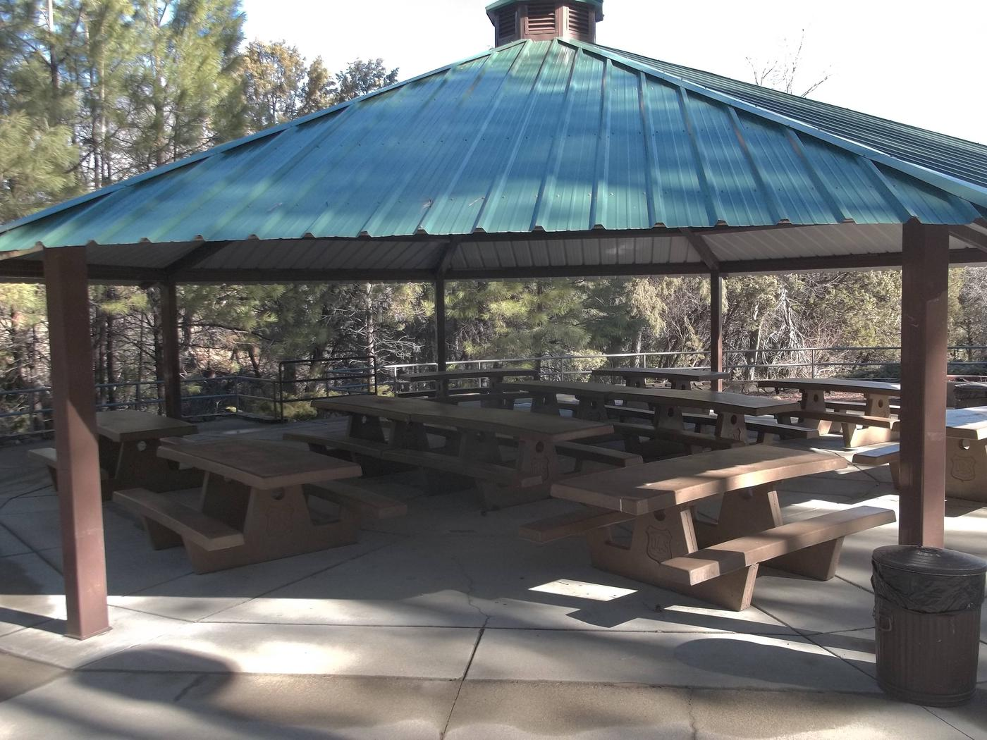 THUMB BUTTE GROUP PICNIC SITECovered picnic area with benches.