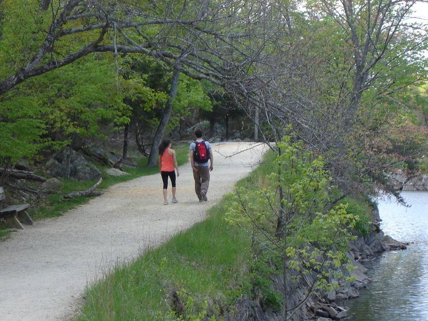 Couple Walks on the Towpath, Chesapeake and Ohio Canal