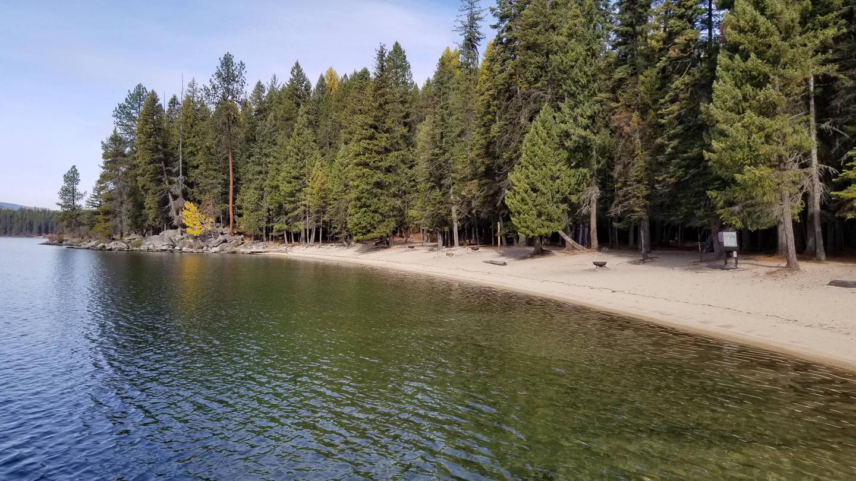 West Shores Beach Sites #1-4West Shores Beach Boat-in Campsites #1-4
