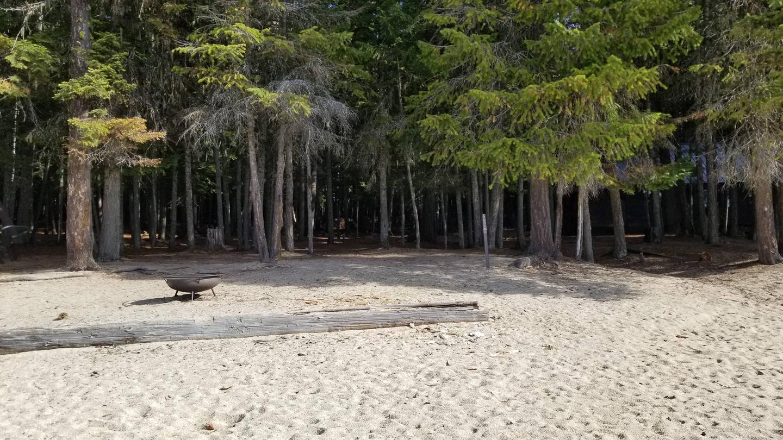 West Shores Site #5West Shores Boat-in Campsite #5