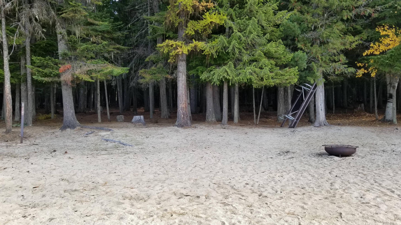 West Shores Site #6West Shores Boat-in Campsite #6