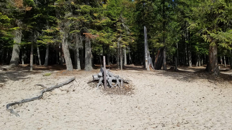 Silver Beach Site #16Silver Beach Boat-in Campsite #16