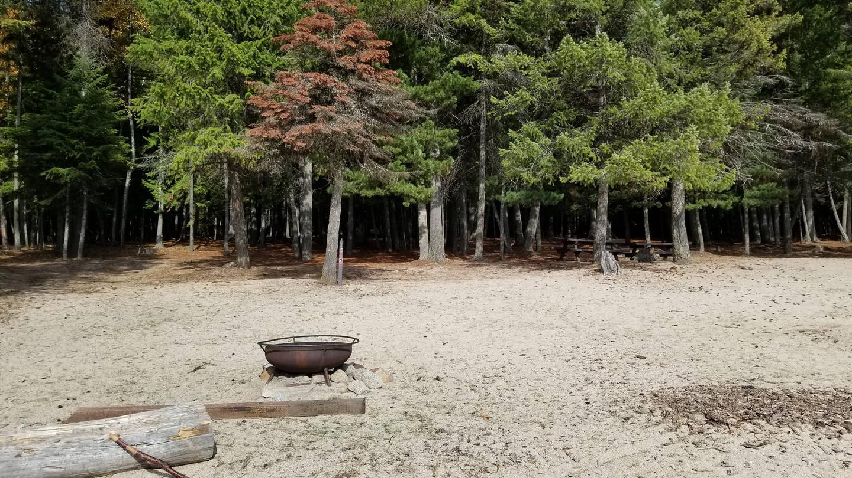 Silver Beach Site #18Silver Beach Boat-in Campsite #18