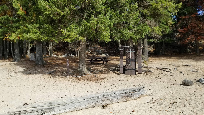 Silver Beach Site #22Silver Beach Boat-in Campsite #22