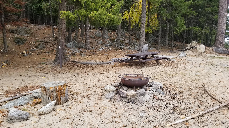 Three Pines Site #32Three Pines Boat-in Campsite #32