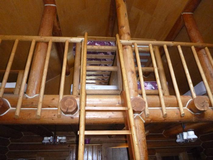 The sleeping loftupstairs bedroom