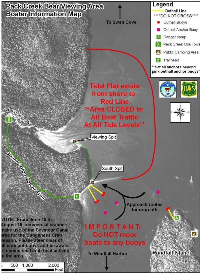 Pack Creek Access Map