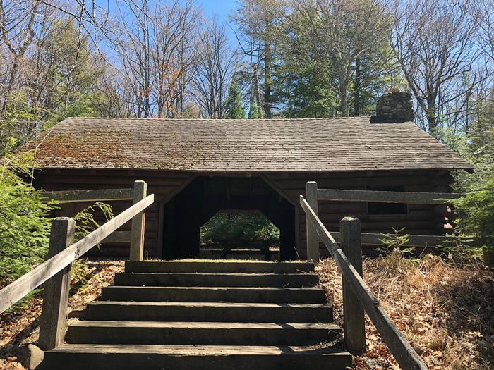 Picnic ShelterAnvil Lake CCC era log picnic shelter
