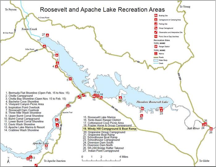 Roosevelt and Apache Lake Recreation AreasTonto Basin Ranger District