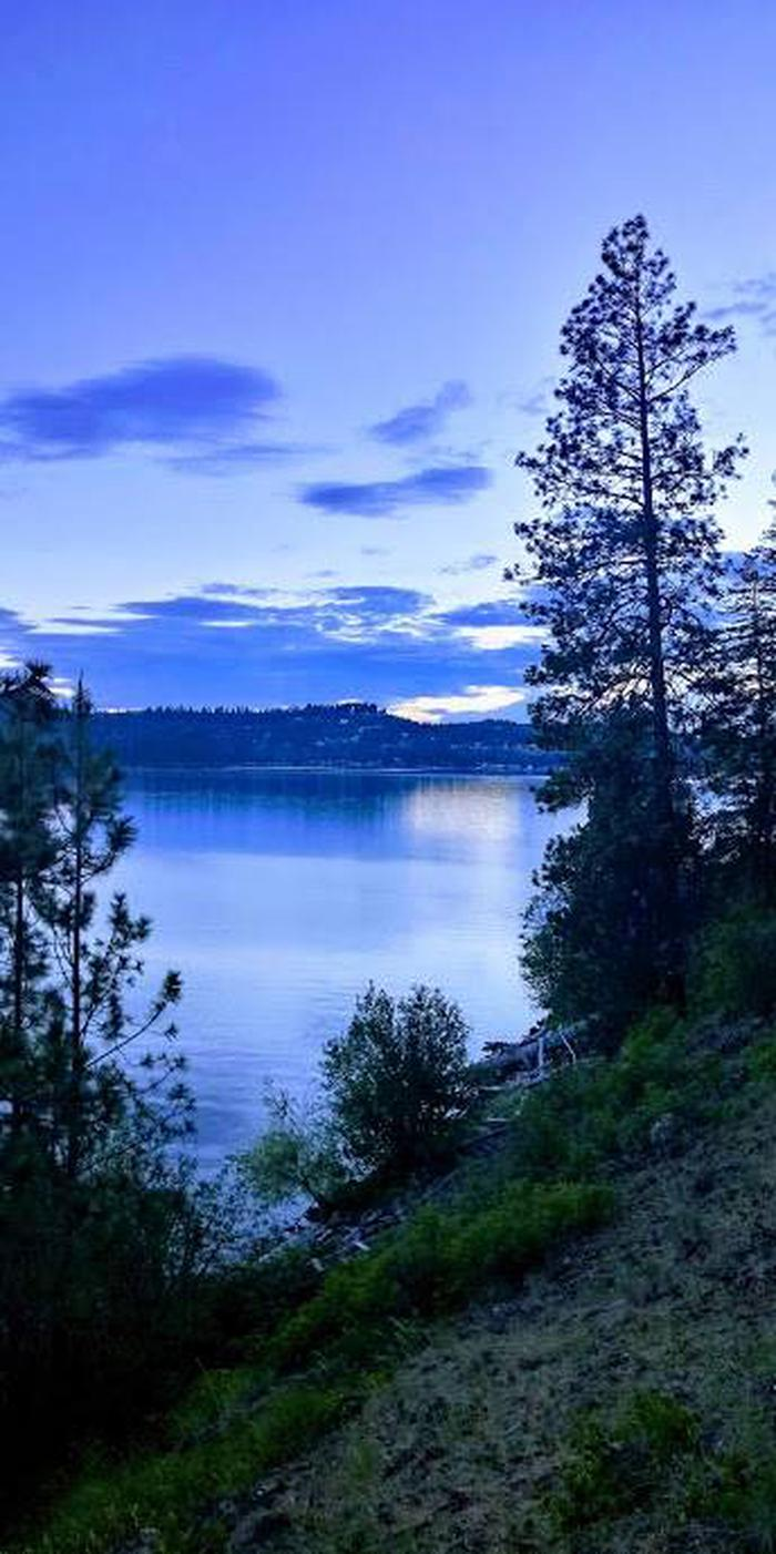 Coeur d'Alene Lake from Bell Bay Campground.
