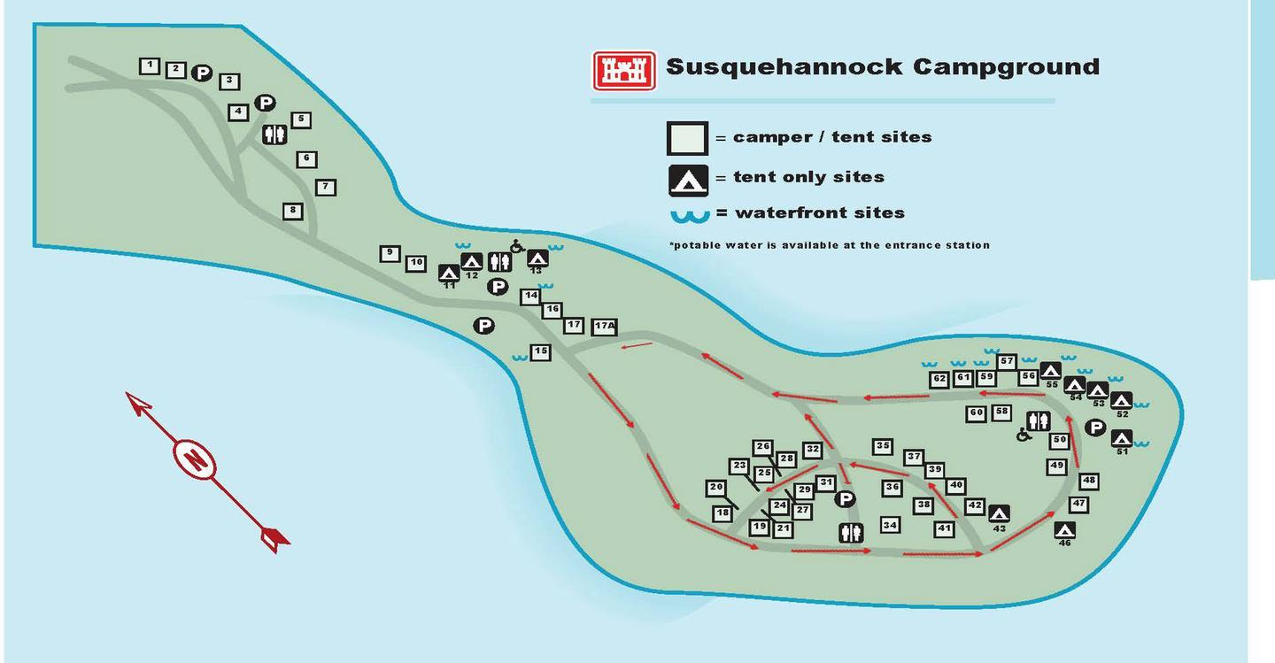 SQ mapSusquehannock campground map