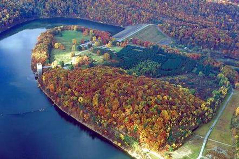 aerial view of Tionesta LakeTionesta Lake