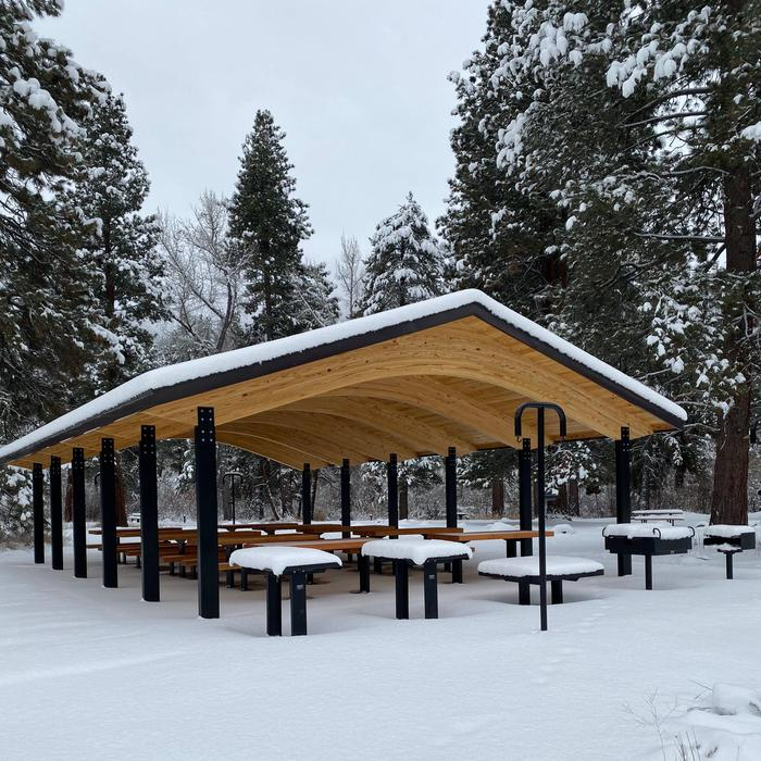 Shelter is located within Site 100NEW for 2020! Site 100 Picnic Shelter