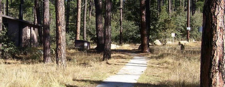 White Spar paved trail between PonderosaWhite Spar Campground