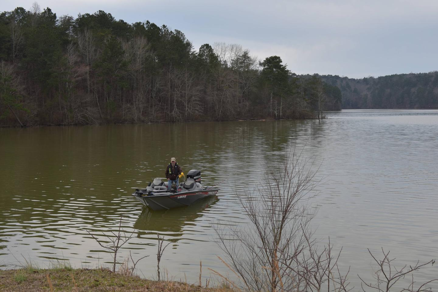 Clear Creek Public Boat Ramp - A man with his 2 best friends, his dog and his fishing boatClear Creek Public Boat Ramp - A man with his 2 best friends, his dog and his fishing boat March 1st, 2020