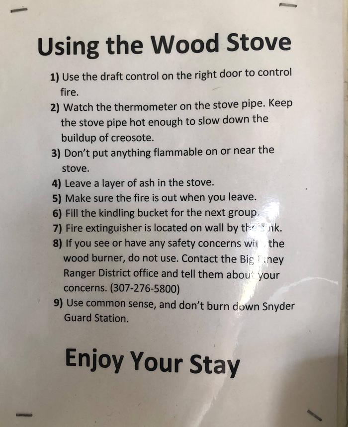 Wood Stove notethere was an new wood stove added in 2018.  You may need to cut wood to burn.