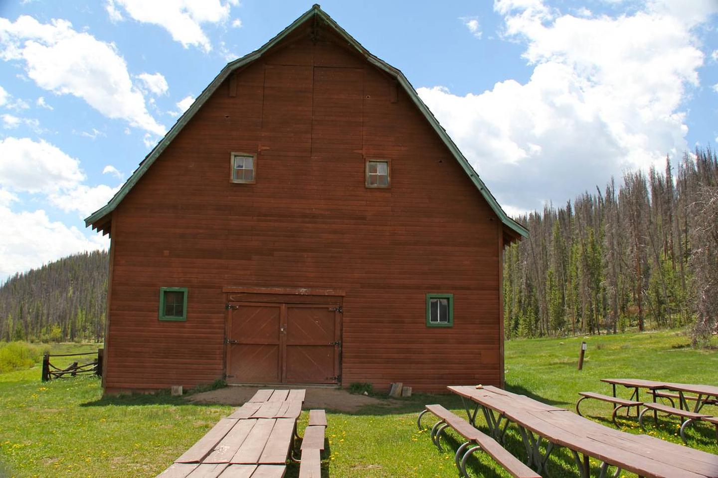 AA Barn with picnic tables