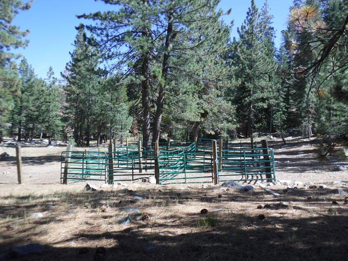 Packsaddle Campground CorralShared Corral
