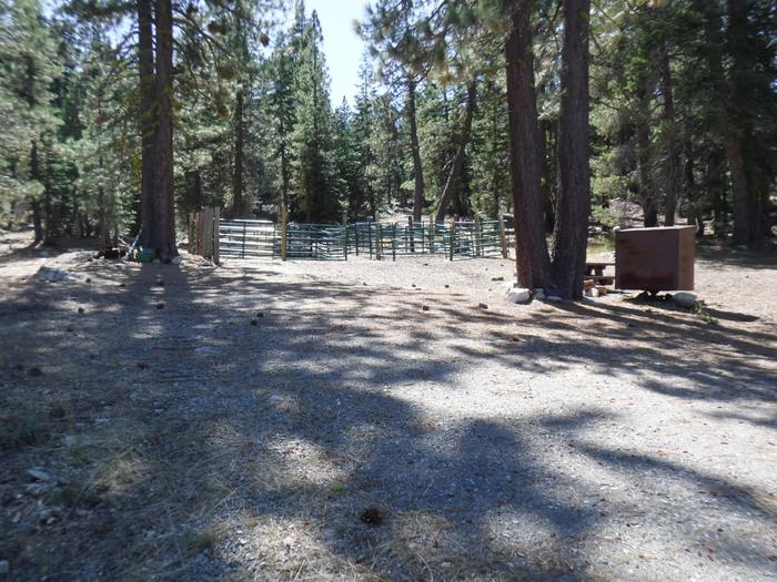 Shared Corral View from Campsite 15
