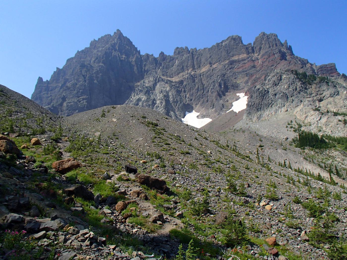 Canyon Creek Meadows, Three Finger Jack, PCT, Jack Lake, Wasco Lake, Mt Jefferson WildernessThree Finger Jack
