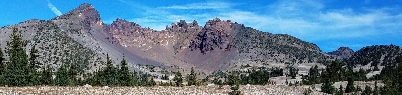Crater Ditch Trail, Crater Ditch Canal, Broken Top, No Name Lake, Broken Hand, Ball Butte, Road 370, Broken Top LoopBroken Top