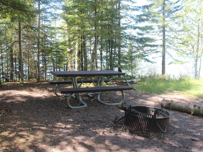 Mainland 1 campsite with fire ring and picnic picturedMainland 1 campsite