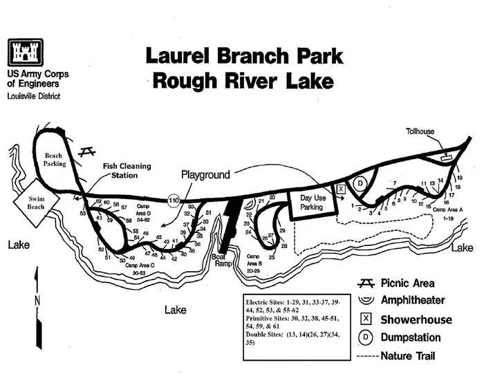 Laurel Branch Campground Map