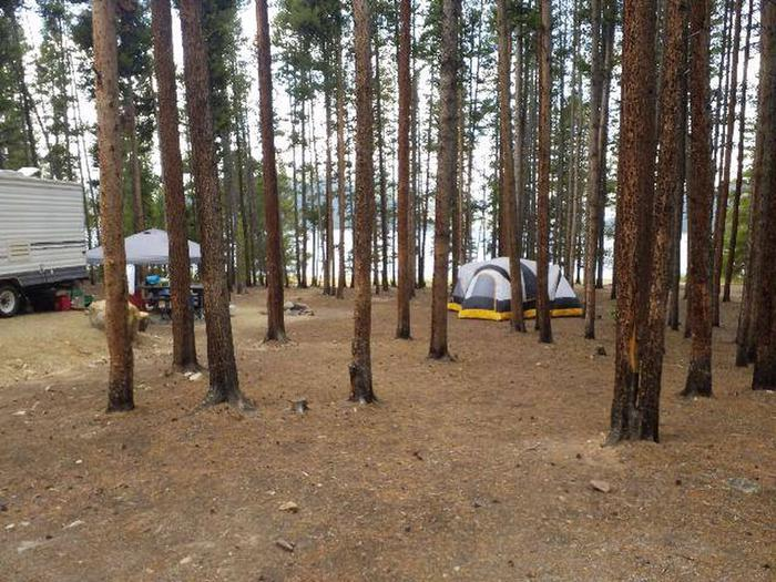 Baby Does Campground, Site 6, tent and RV