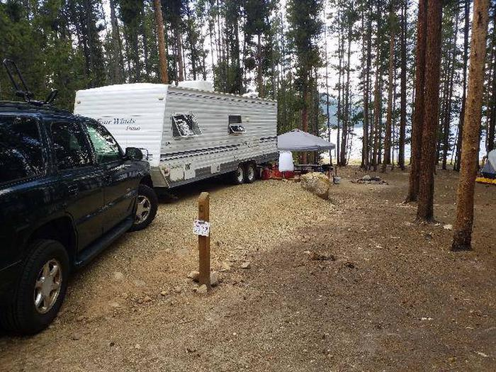 Baby Does Campground, Site 6, Truck and trailer