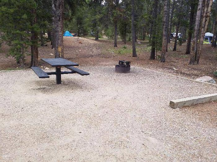 Baby Doe, Site 7, table and fire pit