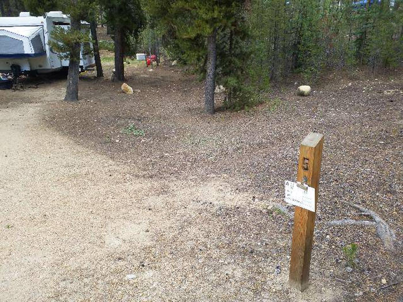 Baby Doe Campground, Site 5, site marker