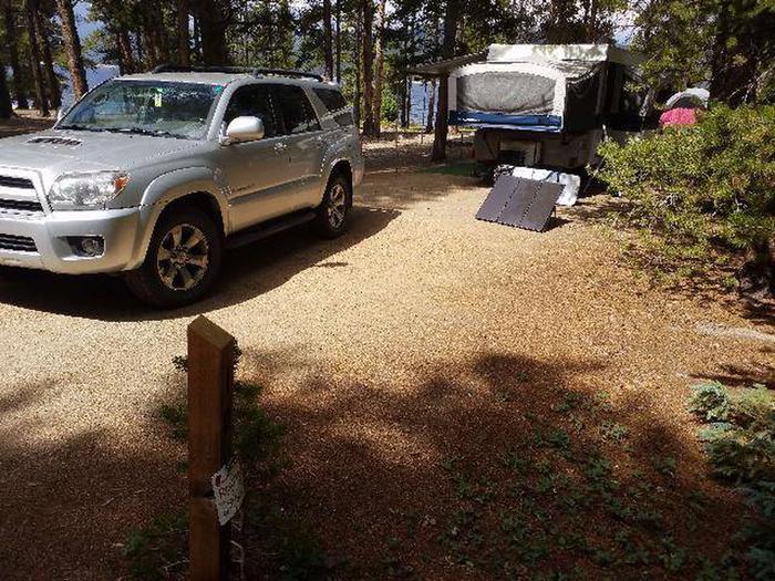 Baby Doe Campground, site 10 marker