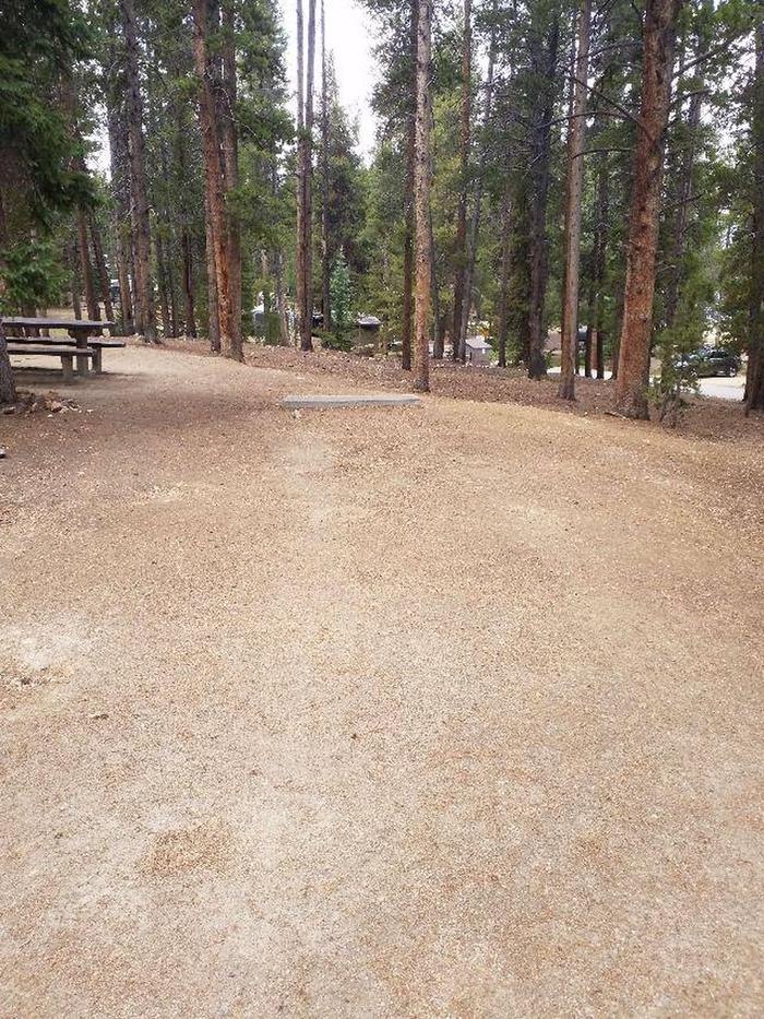 Baby Doe Campground, Site 16 parking