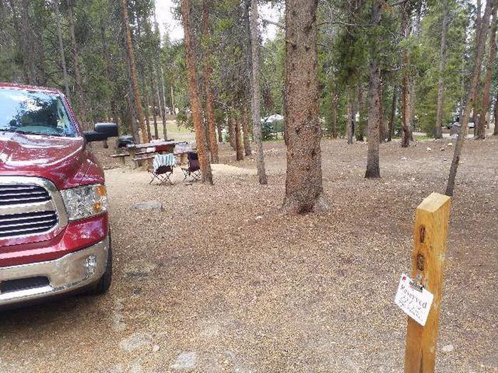 Baby Doe Campground, Site 18 marker