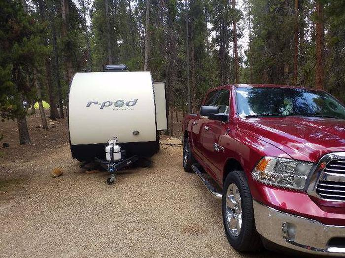 Baby Doe Campground, Site 18 parking