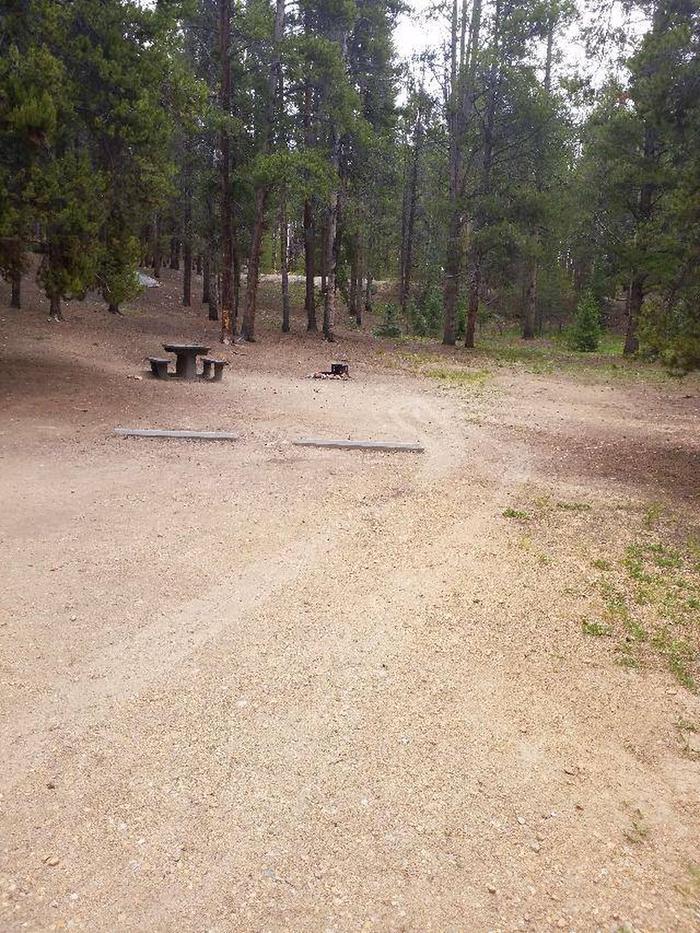 Baby Doe Campground, Site 19 parking