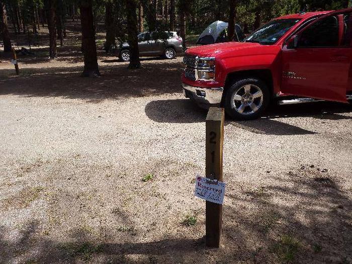 Baby Doe Campground, Site 21 marker