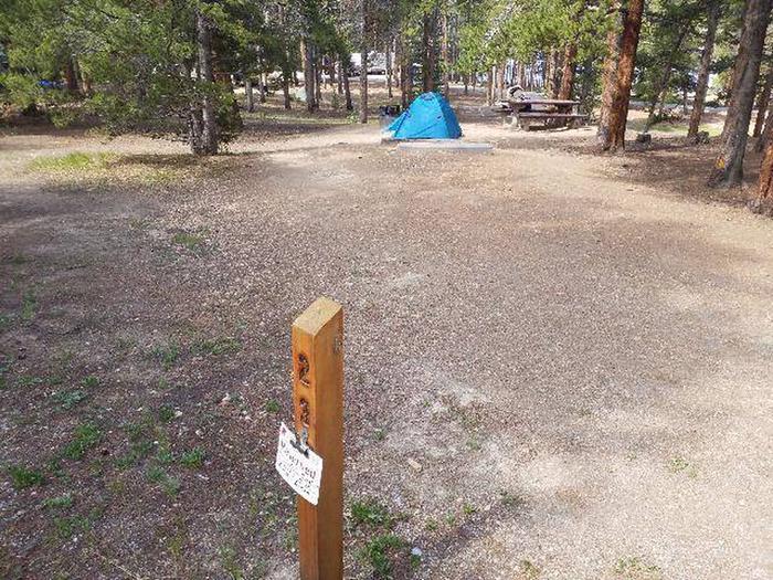Baby Doe Campground, Site 23 marker