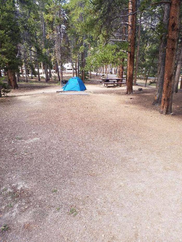 Baby Doe Campground, Site 23 parking